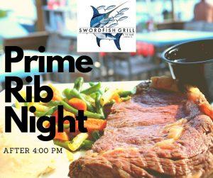Prime rib on plate